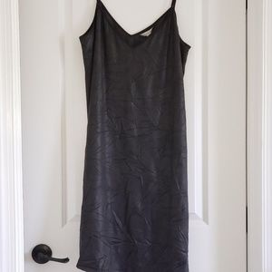 Sexy Assymetrical Leatherette Slip Dress